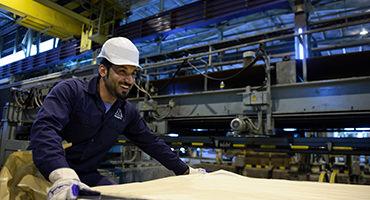 A happy Garmco worker