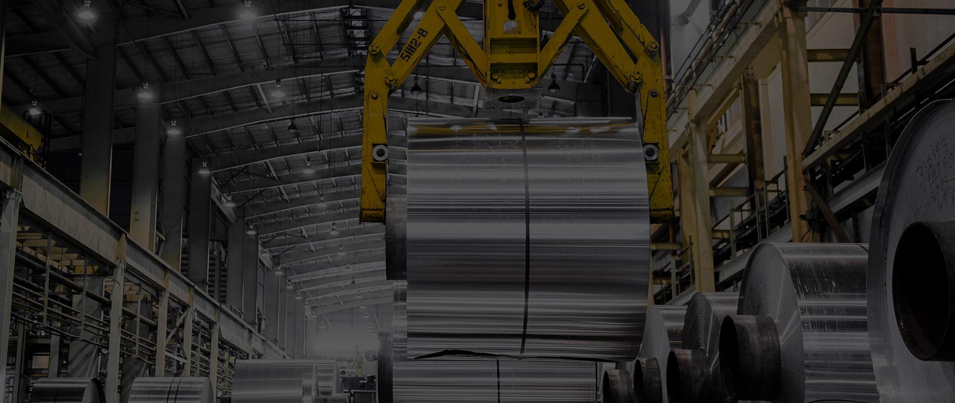 Aluminium Coils stacked neatly